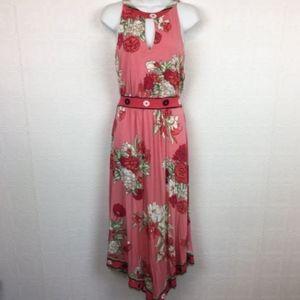 Soma Maxi Dress Sleeveless Halter Floral Small